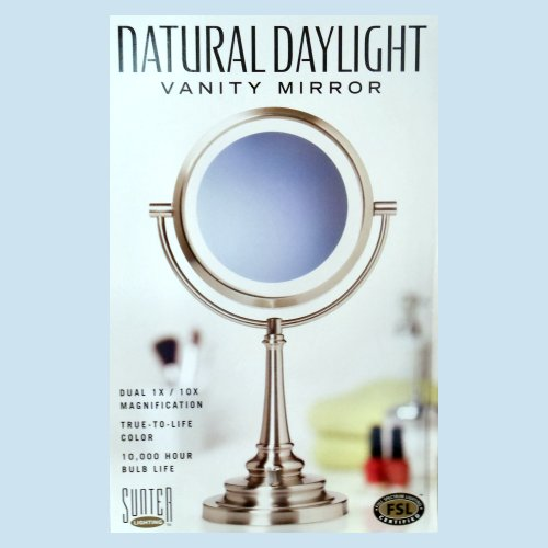 Sunter Lighted Vanity Mirror Reviews : Natural Daylight Lighted Mirror Issues? : MakeupAddiction