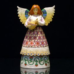 Jim Shore - Angel Of Contentment - Angel With Mixing Bowl 108923