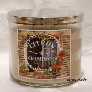 Bath and Body Works Citron Cedarwood Candle 14.5oz