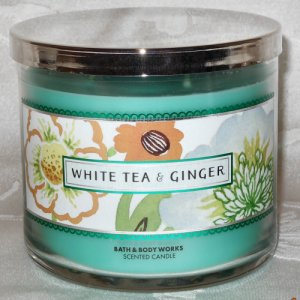 Bath And Body Works White Tea and Ginger Candle 14.5oz