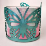 Sonoma Blue Cut Out Butterfly Candle Sleeve