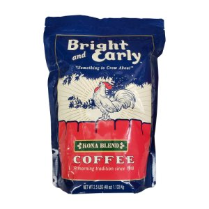 Bright and Early Kona Blend Ground Coffee 2.5 Lbs