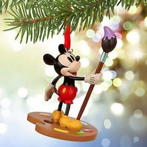 Disney Mickey Mouse Artist Painter Ornament
