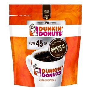 Dunkin Donuts Original Blend Ground Coffee 45 oz