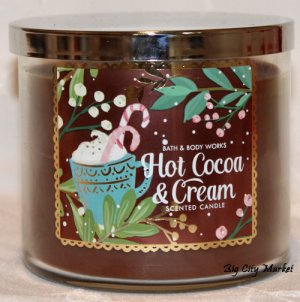 Bath and Body Works Hot Cocoa & Cream Candle - 14.5oz