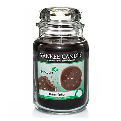 Yankee Candle Girl Scouts Thin Mints Candle - 22oz - Click Image to Close
