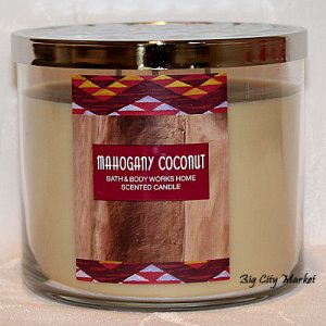 Bath and Body Works Mahogany Coconut Candle - 14.5oz