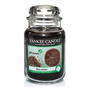 Yankee Candle Girl Scouts Thin Mints Candle - 22oz