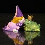 Westland Giftware Princess Kissing Frog Salt and Pepper Shaker Set
