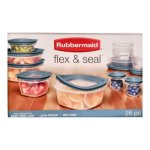 Rubbermaid 26 pc Flex and Seal Storage Container Set - Blue