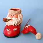 Santa Boot Tea Light Holder with Snuffer