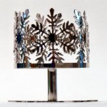 Slatkin and Co. Silver Snowflake Pedestal 4oz Candle Sleeve