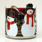 Sonoma Snowman Candle Sleeve