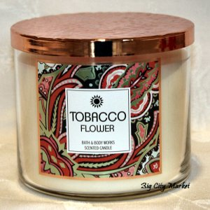 Bath and Body Works Tobacco Flower Candle - 14.5oz
